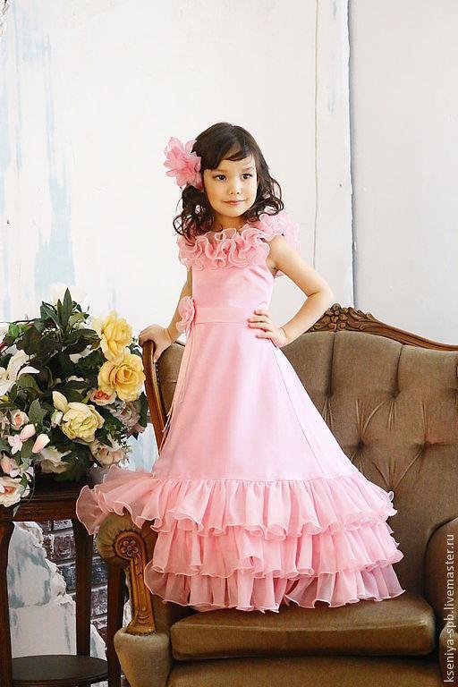 Одежда для девочек, ручной работы. Ярмарка Мастеров - ручная работа. Купить Длинное платье, красное/белое/розовое/бирюзовое. Handmade. Платье, платье для выпускного