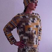"Одежда ручной работы. Ярмарка Мастеров - ручная работа Пуловер ""Сахара"". Handmade."