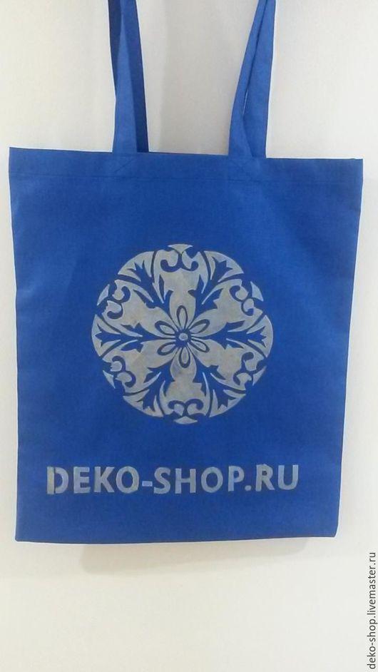 Сумки и аксессуары ручной работы. Ярмарка Мастеров - ручная работа. Купить Эко-сумка, ярко-синяя,с различными рисунками. Handmade.