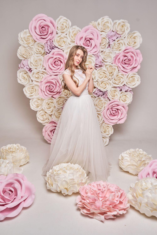 Большое Сердце из роз, Свадебные цветы, Москва, Фото №1
