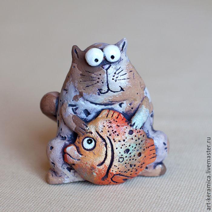 Статуэтка кот своими руками