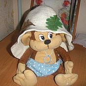 """Одежда ручной работы. Ярмарка Мастеров - ручная работа Банная шапка """"Дубовый лист"""". Handmade."""