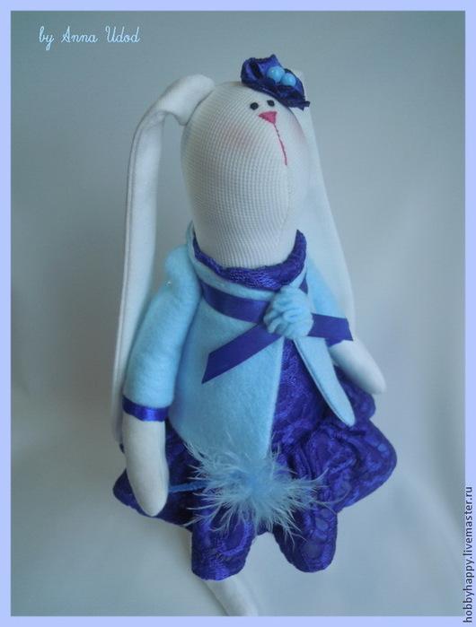 Куклы Тильды ручной работы. Ярмарка Мастеров - ручная работа. Купить зайка тильда Феечка. Handmade. Синий, интерьерная игрушка