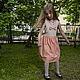 Одежда для девочек, ручной работы. Платье-сарафан с бантиком - розовое. Vera Olshvang. Ярмарка Мастеров. Платье для девочки, платье на лето