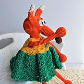 Куклы и игрушки ручной работы. Ярмарка Мастеров - ручная работа Лисичка игрушка-погремушка.. Handmade.