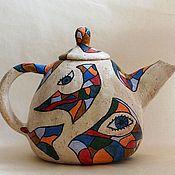 Посуда ручной работы. Ярмарка Мастеров - ручная работа Чайник для Ольги. Handmade.