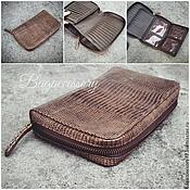 Сумки и аксессуары handmade. Livemaster - original item Wallet genuine leather lizard. Handmade.