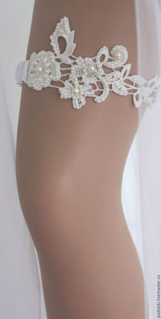 подвязка для невесты Подвязка невесты -ручная работа Ярмарка мастеров -ручная работа подвязка невесты свадебная подвязка