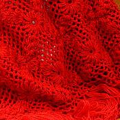 Аксессуары handmade. Livemaster - original item Shawl Agniya 200x150x150 (R-R sides, excluding brushes) knitted. Handmade.