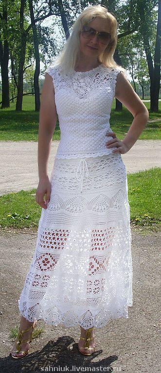 Купить юбка из кружева белая