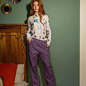 Одежда ручной работы. Ярмарка Мастеров - ручная работа Шерстяные брюки с вышивкой. Handmade.