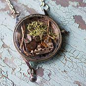 """Украшения ручной работы. Ярмарка Мастеров - ручная работа """"Найдено в джунглях"""" миниатюра в корпусе старых наручных часов. Handmade."""