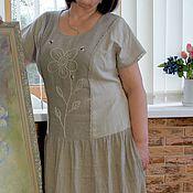 Одежда ручной работы. Ярмарка Мастеров - ручная работа Платье летнее льняное Пчелки. Handmade.