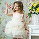 Одежда для девочек, ручной работы. Платье роза любви-карамель. Marussia / Маруся. Интернет-магазин Ярмарка Мастеров. Цветочный