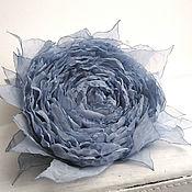 Украшения handmade. Livemaster - original item Brooch hair clip with fabric flower. Pale blue rose. Handmade.