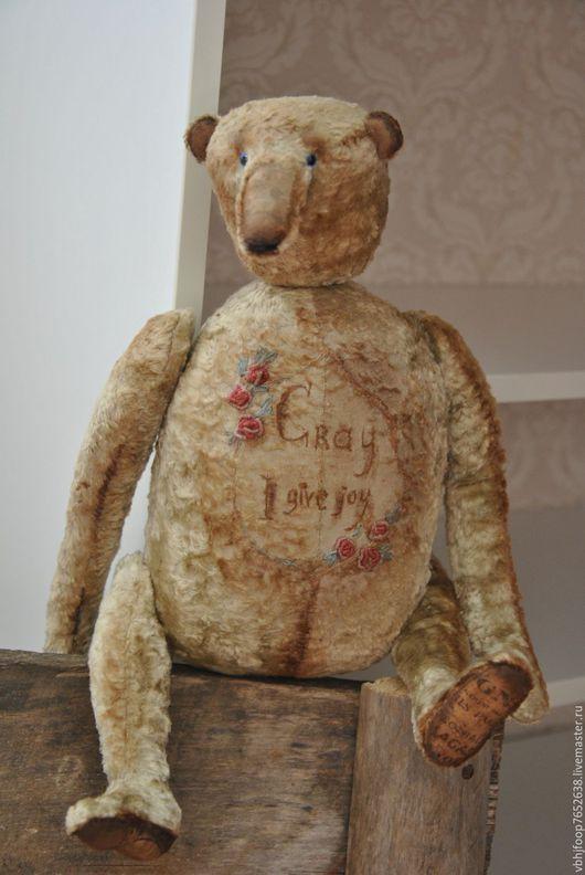 Мишки Тедди ручной работы. Ярмарка Мастеров - ручная работа. Купить Gray.. Handmade. Тёмно-зелёный, вышивка Рококо, интерьер