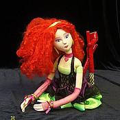 """Куклы и игрушки ручной работы. Ярмарка Мастеров - ручная работа """"диско"""" интерьерная кукла. Handmade."""