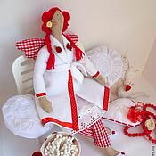Куклы и игрушки ручной работы. Ярмарка Мастеров - ручная работа Тильда банный ангел или хранительница ватных дисков и палочек.. Handmade.