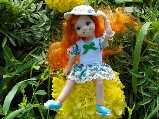 Коллекционные куклы ручной работы. Ярмарка Мастеров - ручная работа. Купить Огонек шарнирная кукла. Handmade. Оранжевый, подарок, рыжий