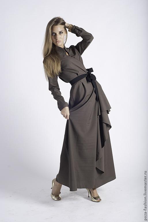 """Платья ручной работы. Ярмарка Мастеров - ручная работа. Купить Платье """"Серый воротничок"""". Handmade. Серый, офисный стиль"""
