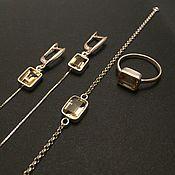 Украшения handmade. Livemaster - original item Earrings on a chain made of silver with citrine. Handmade.