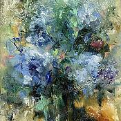 Картины и панно handmade. Livemaster - original item Floral abstraction, oil painting. Handmade.