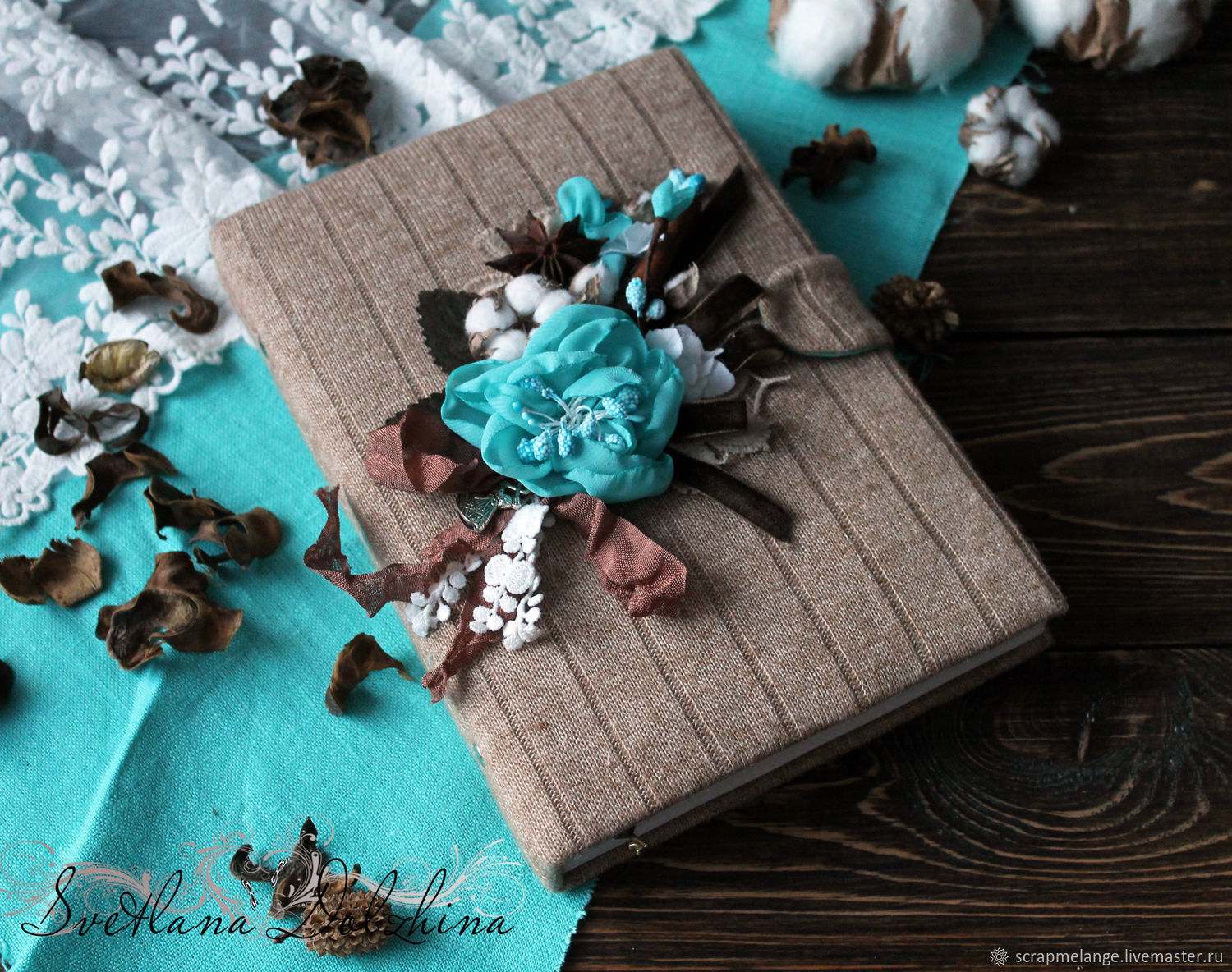 Gift sets handmade. Fair Masters - handmade. To buy a Notebook for girls `turquoise Cinnamon` brown turquoise. Handmade.Notebook handmade brown notebook from scratch