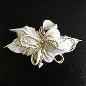 Украшения handmade. Livemaster - original item Hair Clip Ivory Flower Milky Coconut Milk New White. Handmade.