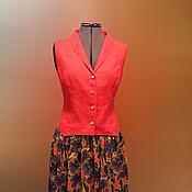 Одежда handmade. Livemaster - original item Vest and skirt to the floor. Handmade.
