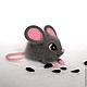 Игрушки животные, ручной работы. Ярмарка Мастеров - ручная работа. Купить Мышка Глашенька, валяная игрушка. Handmade. Сухое валяние
