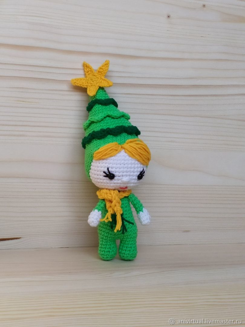 Куколка в костюме Новогодней елки, Мягкие игрушки, Челябинск,  Фото №1