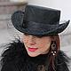 """Шляпы ручной работы. Ярмарка Мастеров - ручная работа. Купить Эксклюзивная шляпа """"Mysterieuse"""" (Таинственная). Handmade. Черный, таинственный"""