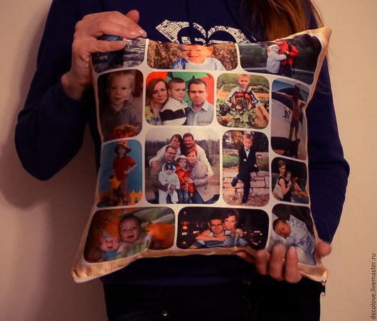 Подарки для мужчин, ручной работы. Ярмарка Мастеров - ручная работа. Купить Подушка с фотографией подарок сыну подарок на день рождения маме. Handmade.