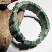 Украшения handmade. Livemaster - original item Bracelet listwanite Living forest. Handmade.