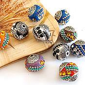 Материалы для творчества handmade. Livemaster - original item Indonesia beads mix clay 14h16mm. Handmade.