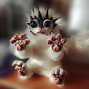 Куклы и игрушки ручной работы. Ярмарка Мастеров - ручная работа Белый пушистый дракон. Handmade.