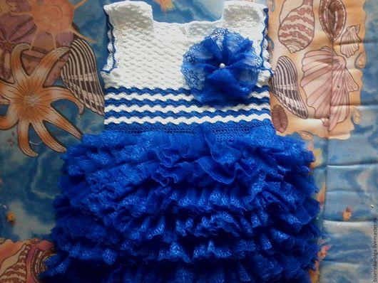 """Одежда для девочек, ручной работы. Ярмарка Мастеров - ручная работа. Купить детское платье """"Морская жемчужина"""" авторская работа. Handmade."""
