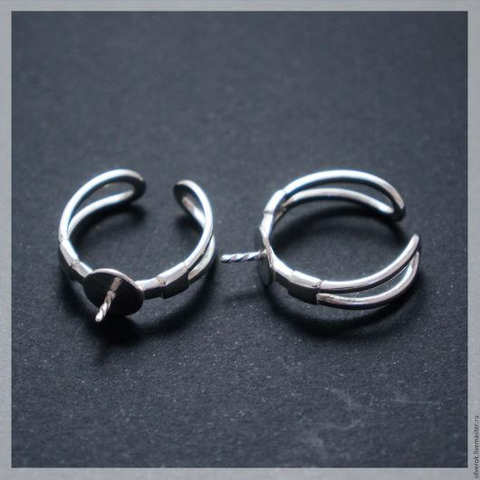 Для украшений ручной работы. Ярмарка Мастеров - ручная работа. Купить Основа для кольца с держателем серебро 925 проба маленькая. Handmade.