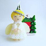 Подарки к праздникам handmade. Livemaster - original item Christmas toy - angel. Handmade.