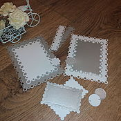 Материалы для творчества handmade. Livemaster - original item Cutting scrapbooking Frames-pearl cardboard design. Handmade.