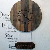 """Часы классические ручной работы. Ярмарка Мастеров - ручная работа Часы-планировщик """"Лофт"""". Handmade."""