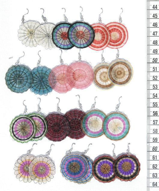 Серьги ручной работы. Ярмарка Мастеров - ручная работа. Купить Серьги из конского волоса, цветные, круглые, оригинальная бижутерия. Handmade.
