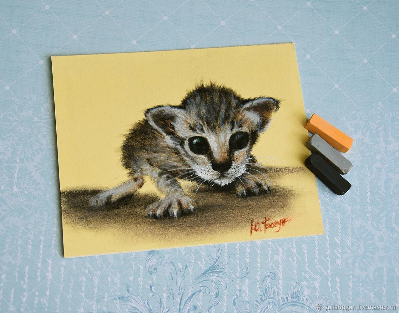 Pastel painting ' Kitten Scratch', Pictures, Belorechensk,  Фото №1