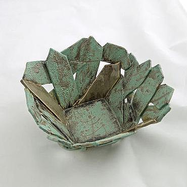 Посуда ручной работы. Ярмарка Мастеров - ручная работа Пиала Зеленые кристаллы. Handmade.