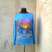 Одежда ручной работы. Ярмарка Мастеров - ручная работа свитер Избушка лесника. Handmade.