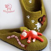 """Обувь ручной работы. Ярмарка Мастеров - ручная работа Топочки """"Кот обжорка"""". Handmade."""