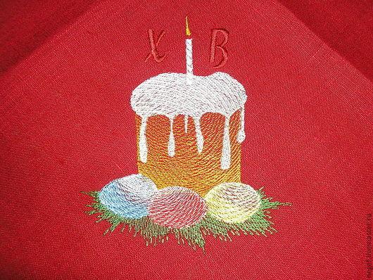 Подарки на Пасху ручной работы. Ярмарка Мастеров - ручная работа. Купить салфетка пасхальная. Handmade. Ярко-красный, пасхальный подарок