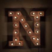 """Для дома и интерьера ручной работы. Ярмарка Мастеров - ручная работа Световые буквы """"NYC"""". Handmade."""