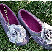"""Обувь ручной работы. Ярмарка Мастеров - ручная работа тапочки """"Rose in stone"""". Handmade."""