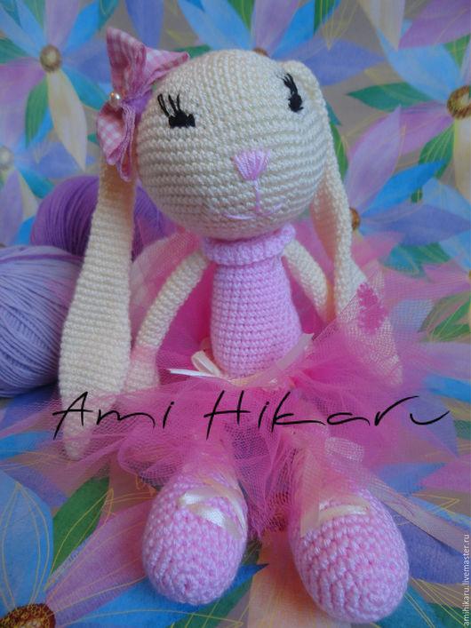 """Игрушки животные, ручной работы. Ярмарка Мастеров - ручная работа. Купить Вязаный зайка """"Hideaki"""". Handmade. Розовый, игрушка для девочки"""